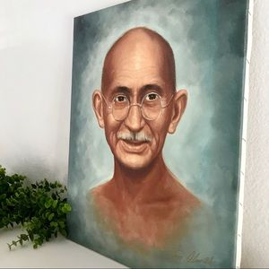 Gandhi political / spiritual leader art painting